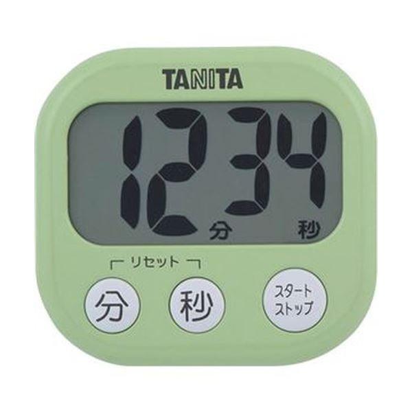 (まとめ)タニタ でか見えタイマーピスタチオグリーン TD-384GR 1個〔×20セット〕