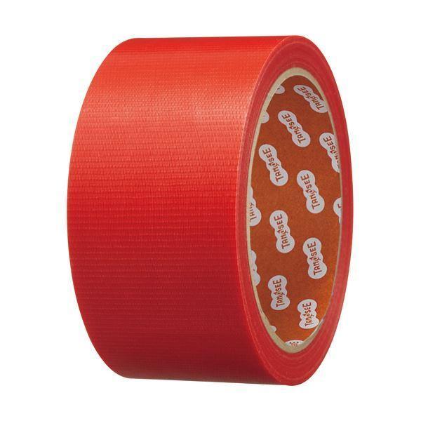 (まとめ)TANOSEE カラー養生テープ 50mm×25m 赤 1巻 〔×30セット〕