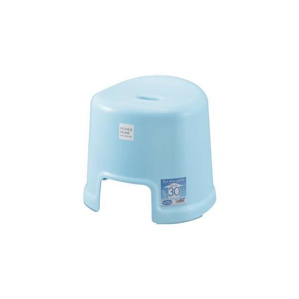 〔16個セット〕 ベーシック 風呂椅子/バスチェア 〔ブルー〕 高さ30cm 防カビ加工付き すべり止め付き 『HOME&HOME』