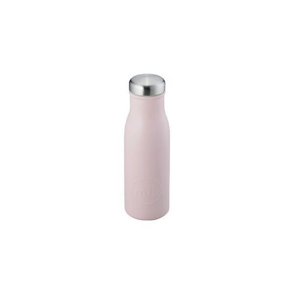 〔24個セット〕 スリム マグボトル/水筒 〔ピンク〕 480ml スクリュー式フタ付き ステンレス 『和平フレイズ ミル』