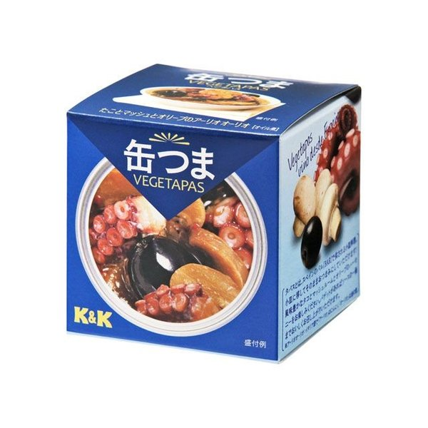 K&K 缶つまベジタパス タコとマッシュとオリーブのアーリオオーリオ SS2号 x6 【4901592902214】【4901592902214