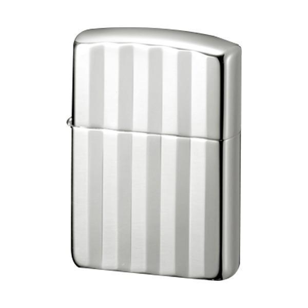送料無料 ZIPPO(ジッポー) オイルライター 銀100ミクロン アーマー・彫刻シリーズ ピンストライプ (♯162) 70135