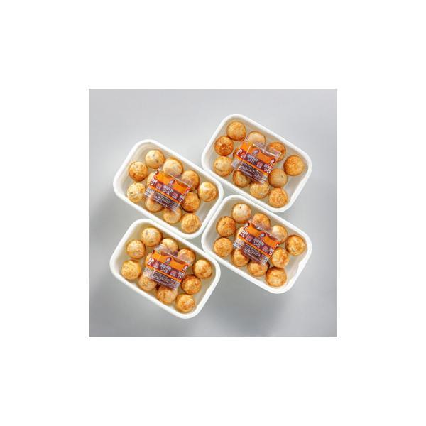 送料無料 九条ねぎのたこ焼きセット 30g×12個入(ソース付) 4トレーセット KT-35