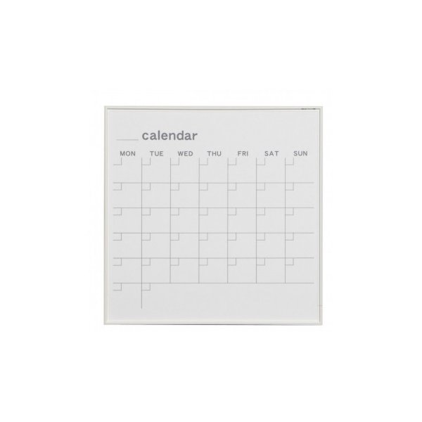 送料無料 馬印 MR series(エムアールシリーズ)壁掛 予定表(カレンダー)ホワイトボード W610×H610mm MR22W