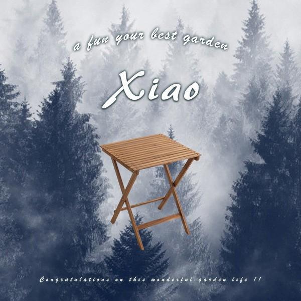 人気の折りたたみガーデンテーブル(木製)アカシア材を使用 | Xiao-シャオ-