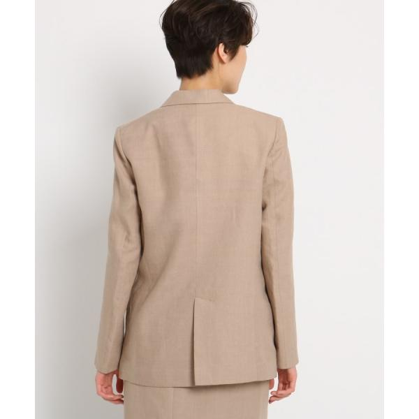DRESSTERIOR(Ladies)(ドレステリア(レディース))先染リネン テーラードジャケット