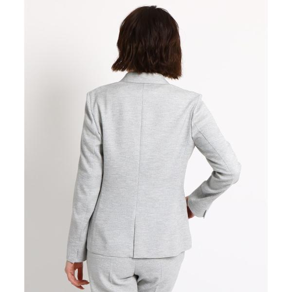 INDIVI(インディヴィ)【マシンウォッシュ/UV/接触冷感】リネン風テーラードジャケット