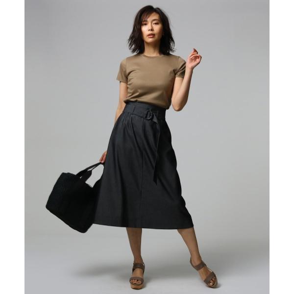 UNTITLED essential clue(アンタイトル エッセンシャルクルー)ツイルストレッチスカート