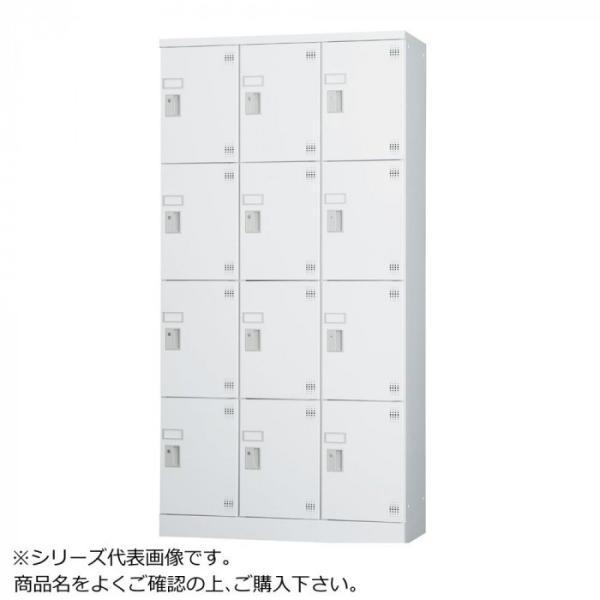 豊國工業 多人数用ロッカーハイタイプ 3列4段:深型 内筒交換錠窓付き GLK-N12DTSW CN-85色 信託 中古 ホワイトグレー 棚板付き