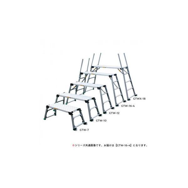 四脚調節式 日本製 足場台 可搬式作業台 訳あり品送料無料 GTW-16-4