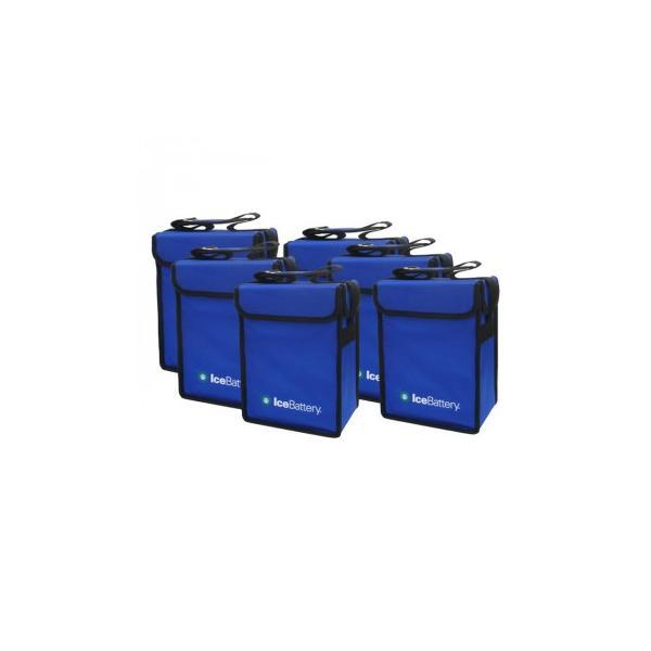 爆売りセール開催中 IceBattery 激安セール アイスバッテリー 保冷剤付縦型バッグ 6個セット 試合 クーラーボックス IB-VERTICALBOX-6P 3865888ピクニック