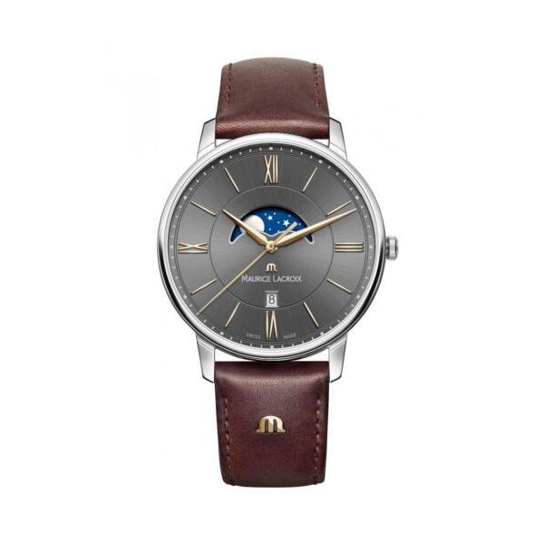 腕時計 モーリスラクロア 価格 メンズ Maurice Lacroix Eliros EL1108-SS001-311-1 Moonphase Men's 開店記念セール Wristwatch