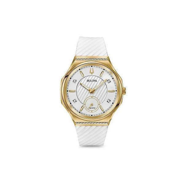 ご予約品 腕時計 通信販売 ブローバ レディース Bulova 98R237 Diamond Wristwatch Women's Curv