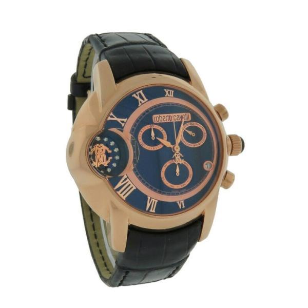 お中元 腕時計 ロベルトカヴァッリ メンズ Roberto Cavalli R7271649025 Mens Chrono Gold Rose Tone Watch Alligator Caractere ショッピング