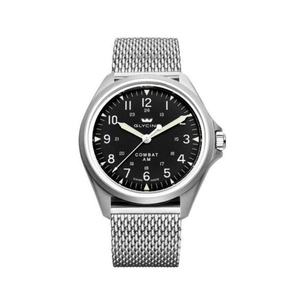 腕時計 グライシン Glycine 3943.19AT.MM Combat 7 Vintage GL0237 販売期間 限定のお得なタイムセール Dial Automatic - セール特価品 Black 41mm