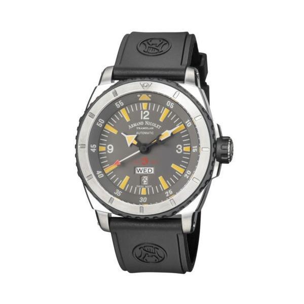 腕時計 アルマンニコレ メンズ Grey Dial Rubber Armand Nicolet A713M Color Automatic Choice of Watch 47mm メイルオーダー S05 Men's - 倉庫
