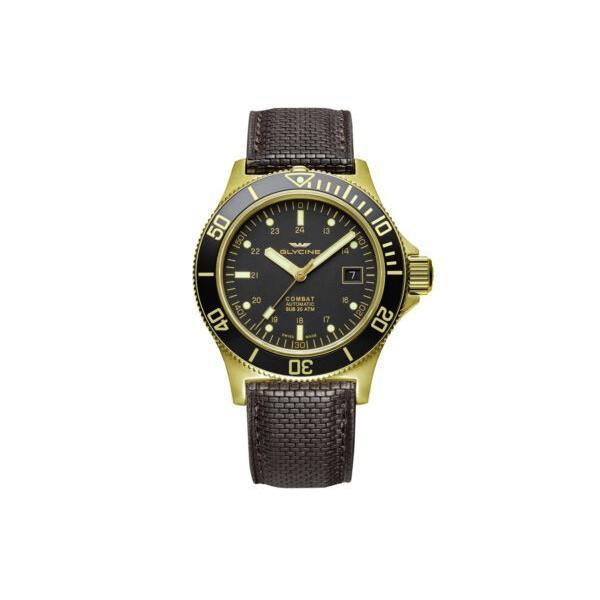 腕時計 グライシン メンズ Glycine Men's 3908.292.LB9FS Combat Sub GL0186 - PVD Automatic 爆買い送料無料 42mm YG 超激安特価 Watch