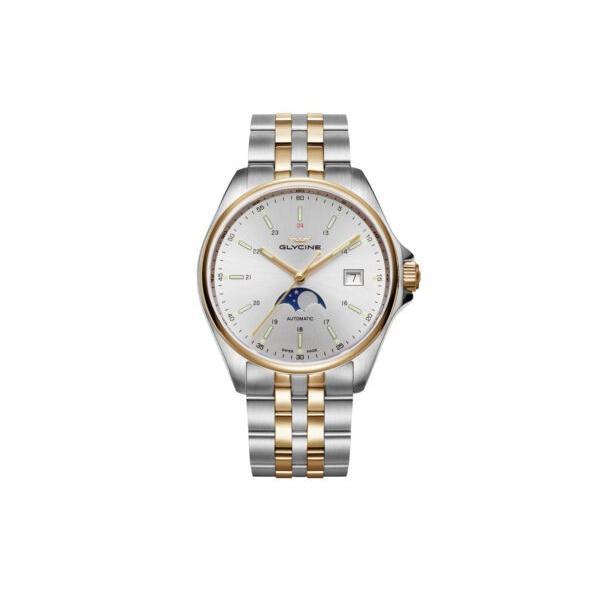 迅速な対応で商品をお届け致します 腕時計 グライシン メンズ Glycine Men's 3948.313.MB Combat - Classic 40mm 低価格化 GL0192 Moonphase Automatic