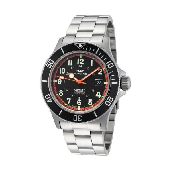 腕時計 グライシン メンズ Glycine Men's 3908.191AT.N1.MB 日本産 Combat Sub GL0249 - Black 倉 Automatic 42mm Dial