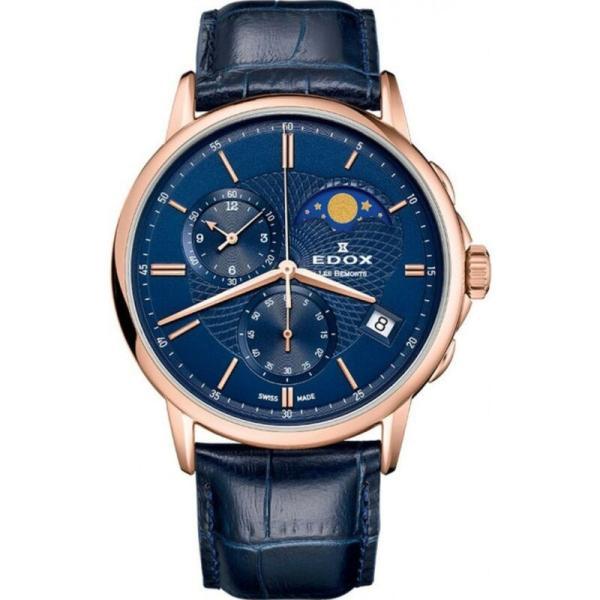 腕時計 エドックス 最新アイテム メンズ NEW Edox メーカー再生品 Les Bemonts Men's BUIR Watch Moon 01651 Phase 37R Calendar