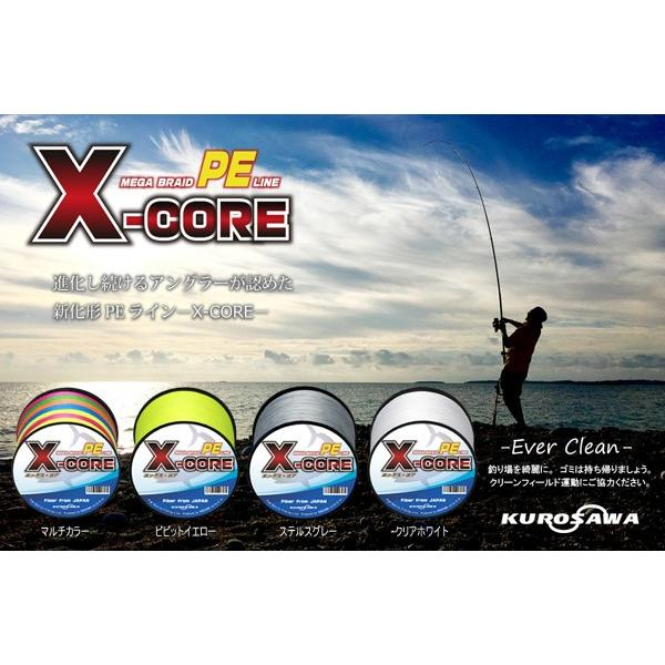 高強度PEライン200m巻き 単色グレー! X-CORE (0.4号/0.6号/0.8号/1号/1.5号/2号/2.5号/3号/4号/5号/6号/7号/8号/10号)!