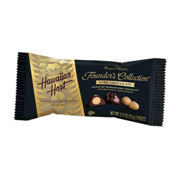 ハワイアンホースト マカデミアナッツ ダークチョコレート バー(2粒)×12袋セット(★クール便)