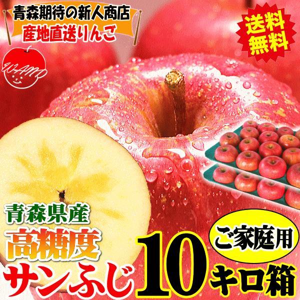 【予約】送料無料 りんご 10kg箱 サンふじ ご家庭用 訳ありリンゴ 鮮度抜群 青森 リンゴ 10キロ箱