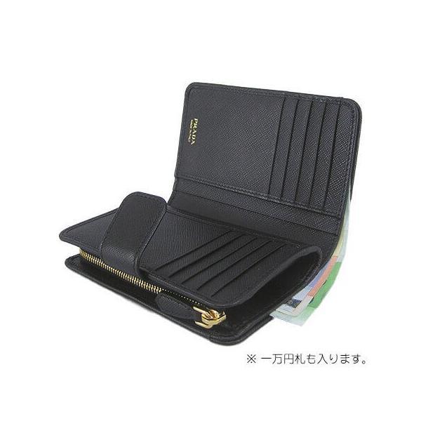 the best attitude f742c 7e92b プラダ PRADA 折財布/サイフ/SAFFIANO METAL 1ML225 QWA/NERO/ブラック/F0002/1920aw