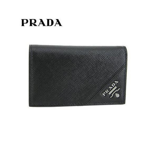 プラダ/PRADA メンズ 名刺入れ/カードケース SAFFIANO METAL 2MC122 QME/NERO/F0002/21ss