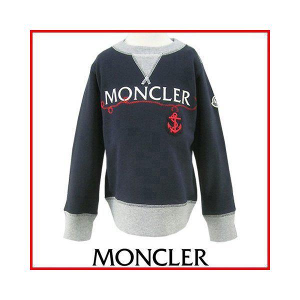 モンクレール MONCLER KIDS ユニセックス スウェットシャツ MAGLIA GIROCOLL 8018550 80417 B ネイビー/742/セール|worldclub