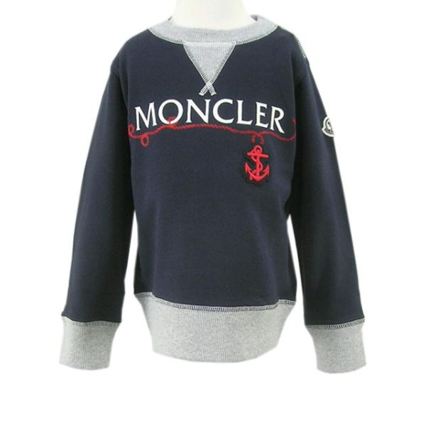 モンクレール MONCLER KIDS ユニセックス スウェットシャツ MAGLIA GIROCOLL 8018550 80417 B ネイビー/742/セール|worldclub|02