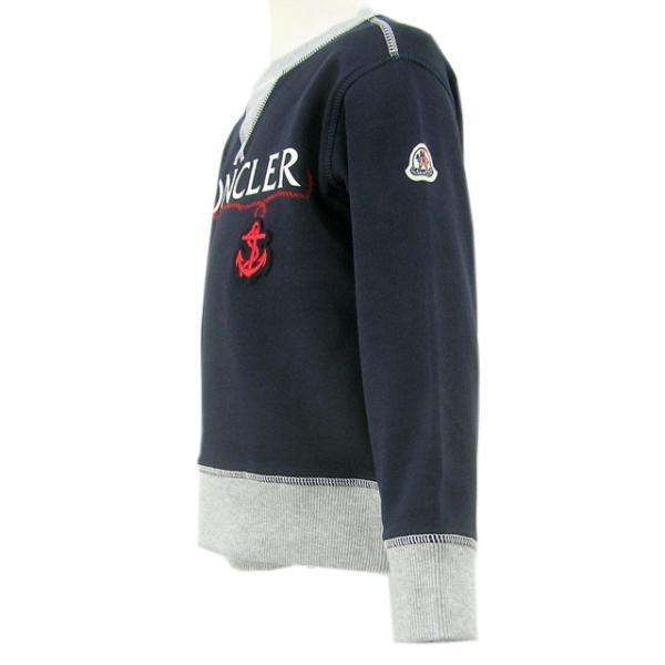 モンクレール MONCLER KIDS ユニセックス スウェットシャツ MAGLIA GIROCOLL 8018550 80417 B ネイビー/742/セール|worldclub|04