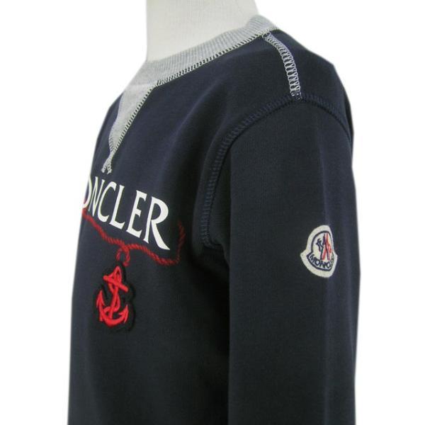 モンクレール MONCLER KIDS ユニセックス スウェットシャツ MAGLIA GIROCOLL 8018550 80417 B ネイビー/742/セール|worldclub|05