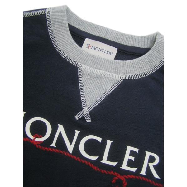 モンクレール MONCLER KIDS ユニセックス スウェットシャツ MAGLIA GIROCOLL 8018550 80417 B ネイビー/742/セール|worldclub|06