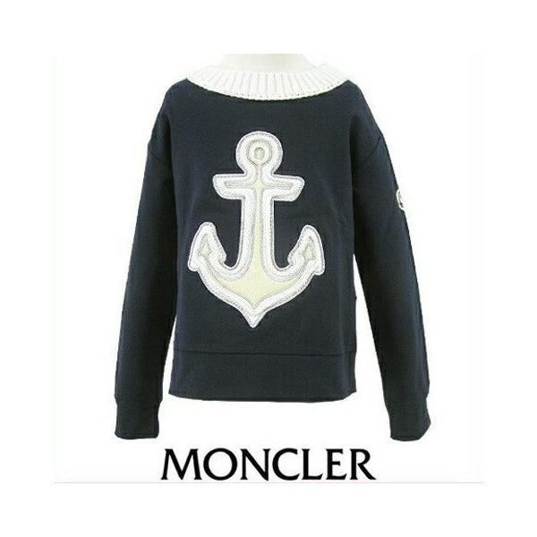 モンクレール MONCLER KIDS ユニセックス スウェットシャツ MAGLIA GIROCOLL 8065205 809AC B ネイビー/742/セール worldclub