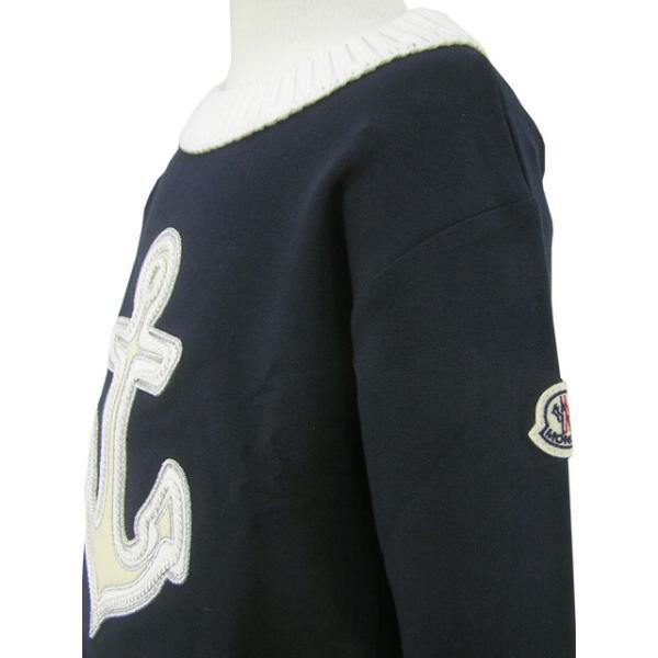 モンクレール MONCLER KIDS ユニセックス スウェットシャツ MAGLIA GIROCOLL 8065205 809AC B ネイビー/742/セール worldclub 05