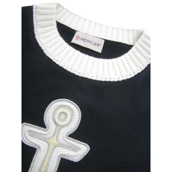 モンクレール MONCLER KIDS ユニセックス スウェットシャツ MAGLIA GIROCOLL 8065205 809AC B ネイビー/742/セール worldclub 06