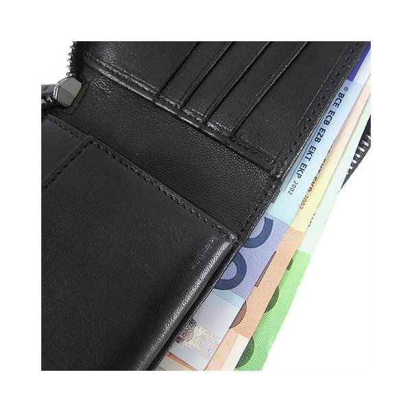 ジミーチュウ JIMMY CHOO メンズ 2つ折り財布 LAWRENCE ENL BLACK/ブラック/ウォレット/19ss