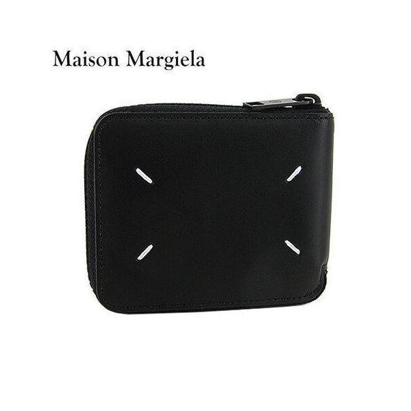 メゾンマルジェラ/Maison Margiela ユニセックス 2つ折りカードケース S35UI0513 PS935/ブラック/T8013/21ss