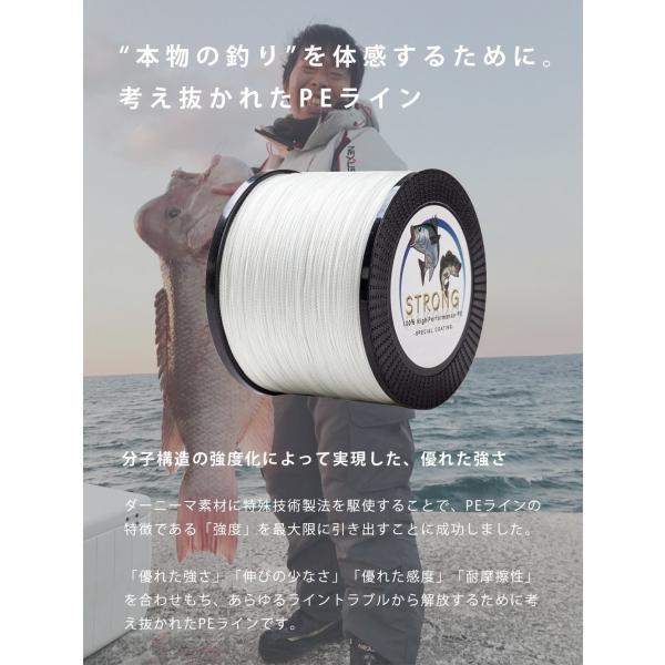 【オルルド釣具】PEライン ハイパフォーマンスPE「ストロング」300m|worlddepartyafuu|06