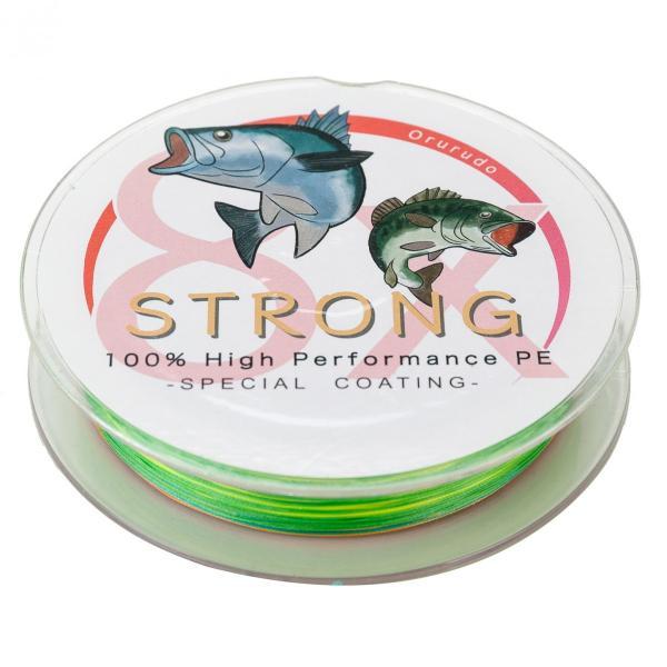 オルルド釣具 釣り具 釣り糸 PEライン ハイパフォーマンスPE 「ストロング 8X」 300m 8本編み