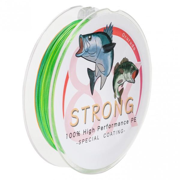 【オルルド釣具】PEライン ハイパフォーマンスPE「ストロング 8X」300m(8本編み)|worlddepartyafuu|03