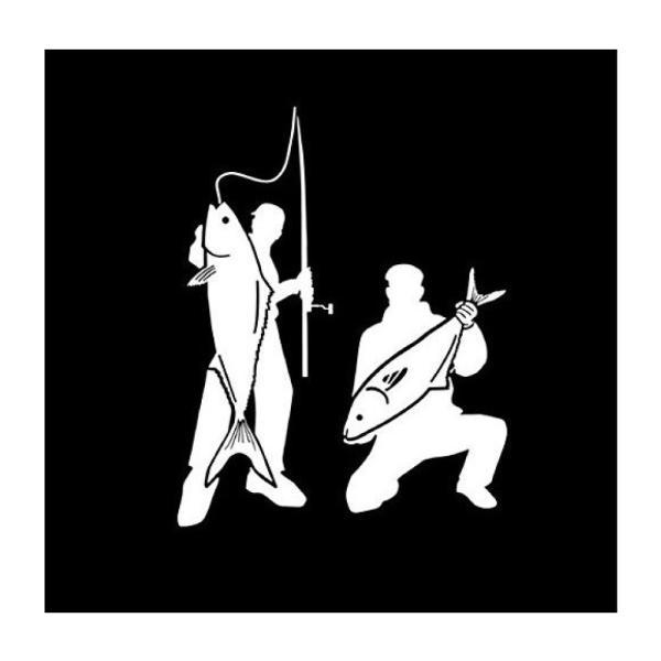 オルルド釣具 フィッシングステッカー 「釣り仲間 釣った 釣れた 大爆釣 14×11cm」 貼付用ヘラ付|worlddepartyafuu