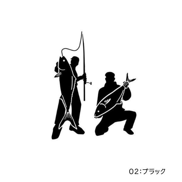 オルルド釣具 フィッシングステッカー 「釣り仲間 釣った 釣れた 大爆釣 14×11cm」 貼付用ヘラ付|worlddepartyafuu|03