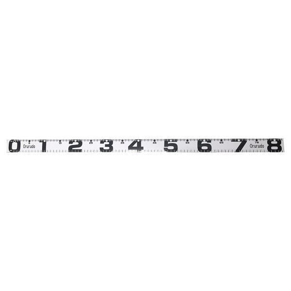 【オルルド釣具】フィッシングメジャーステッカー 幅40mm×長さ80cm ホワイト|worlddepartyafuu