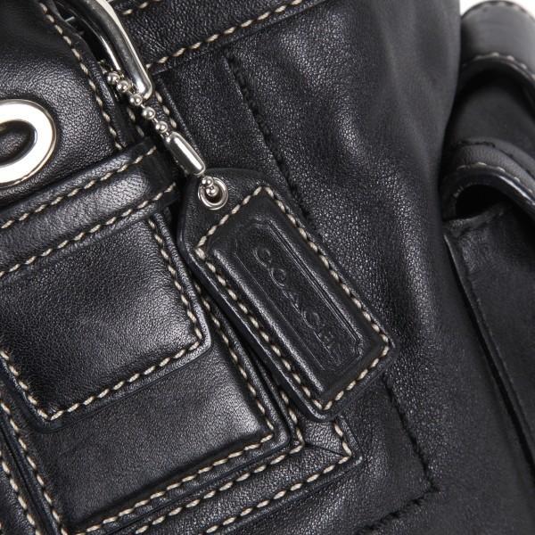 コーチバッグ アウトレット COACH トート レザートート ブラック バッグ 11037 大きめ |worlddrive|02