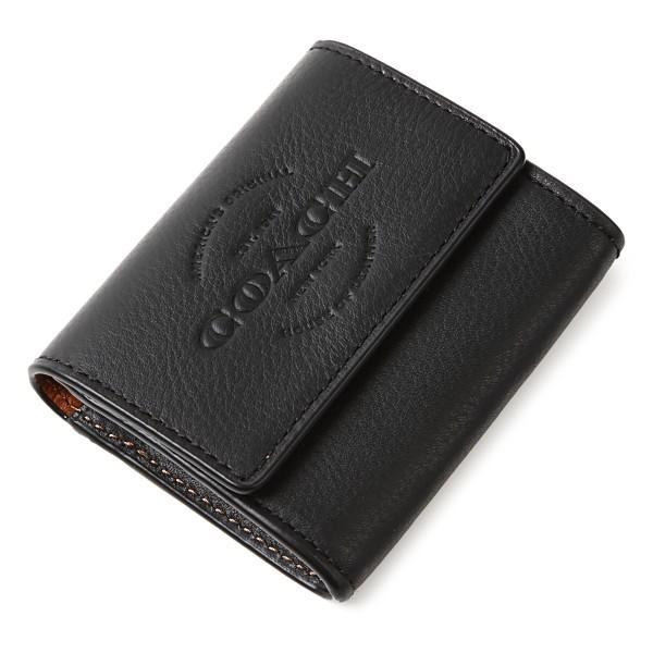 コーチ コインケース COACH メンズ 本革 小銭入れ アウトレット ブラック F24652 BLK ギフトボックス付き|worlddrive