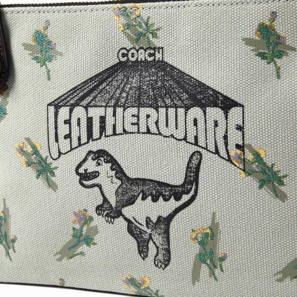 コーチ COACH レキシ― クラッチ バッグ 恐竜 ライトグリーン キャンバス f51227|worlddrive|02