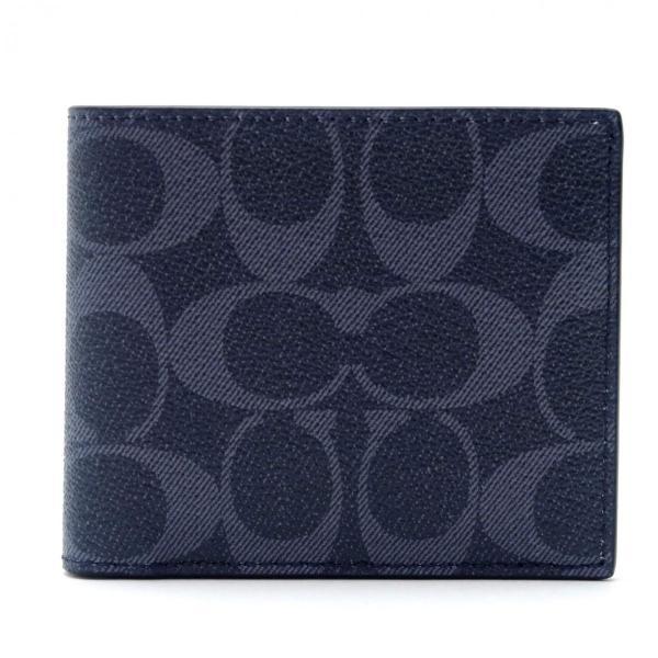 コーチ COACH メンズ 二つ折り財布 カードケース シグネチャー レザー 66551QBDEN アウトレット コーチギフトボックス付き|worlddrive