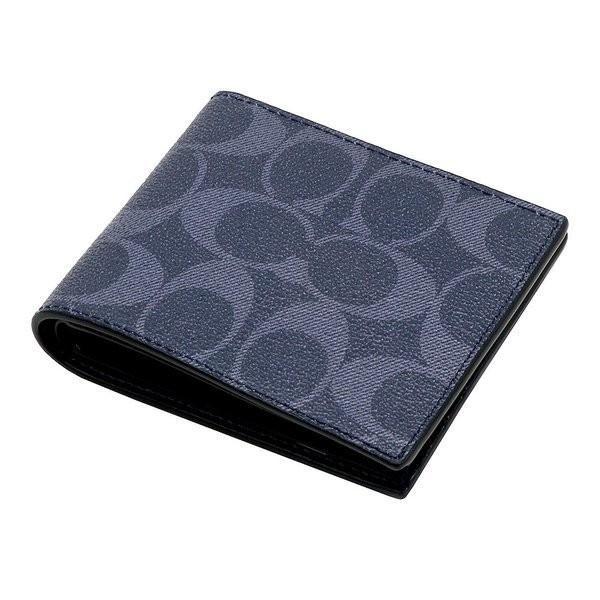 コーチ COACH メンズ 二つ折り財布 カードケース シグネチャー レザー 66551QBDEN アウトレット コーチギフトボックス付き|worlddrive|03